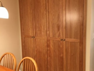 Red Birch Pantry cabinet