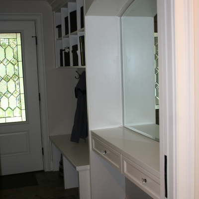 Mudroom Hallway Cabinetry