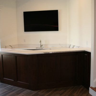 Home Bar in basement corner