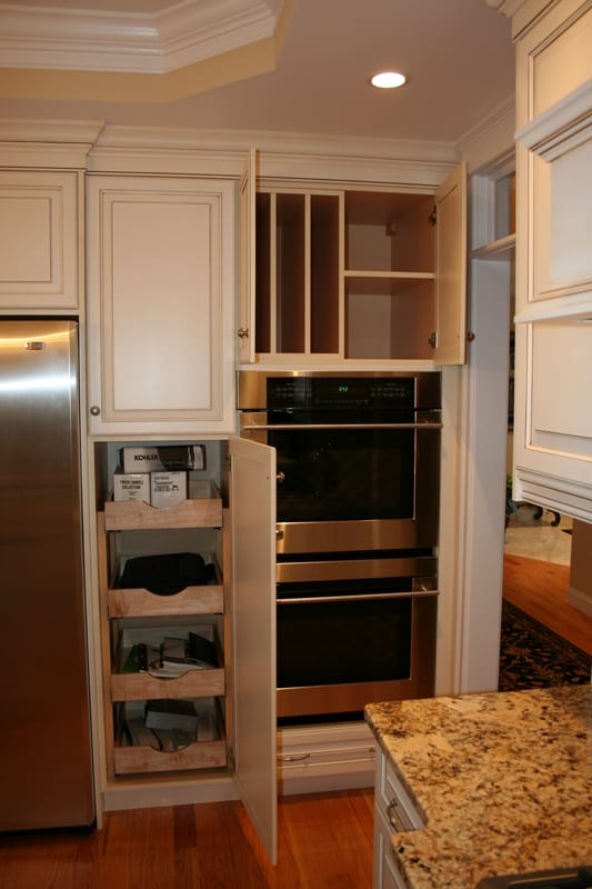 Pantry with pull outs and tray dividers