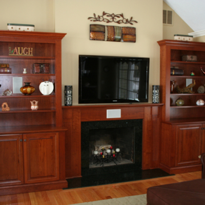 Cherry Mantle and built ins