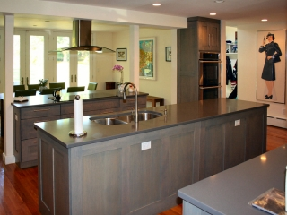 Transitional Kitchen Cabinets with Island