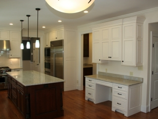 Kitchen Cabinets with Desk