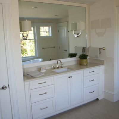 White Shake Bathroom Vanity
