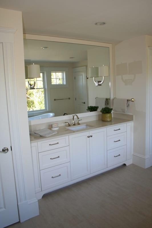 White Shake Bathroom Vanity