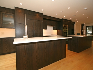 Solid oak with black finish